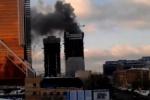 Пожар в Москва-Сити 25.01.2013: возгорание локализовано, названа причина