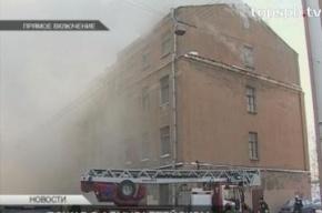 Пожар в общежитии Минобороны в Петербурге потушен