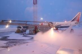 Снегопад отменил авиарейсы из Москвы в Петербург