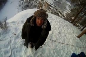 Петербургский экстремал выложил видео прыжка с 70-метровой скалы