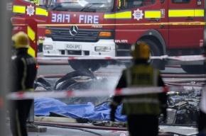 В центре Лондона упал вертолет, два человека погибли