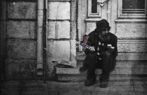 Бездомный разгуливал по Петербургу с боевым пистолетом