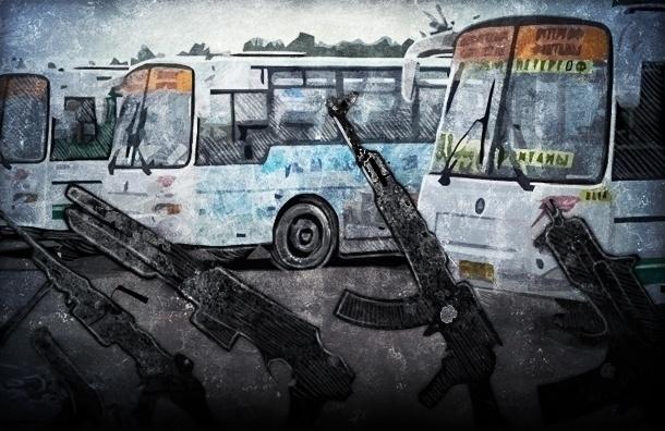 В Петербурге обстреляли четыре маршрутки с пассажирами