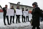 Фоторепортаж: «Дворники-мигранты митинг»
