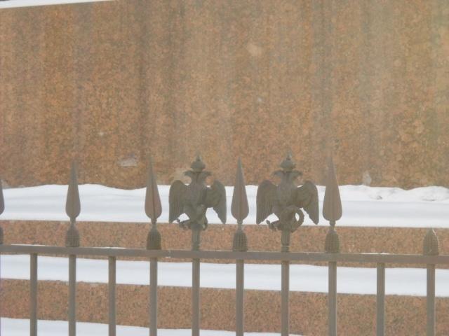 Орлы на ограде решетки: Фото