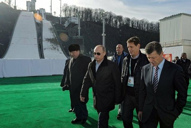 Путин, Сочи, олимпийские объекты: Фото