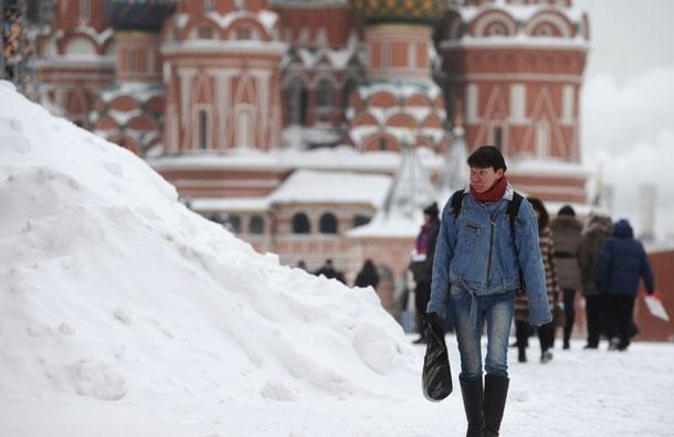 Снег в Москве будет идти до вечера понедельника