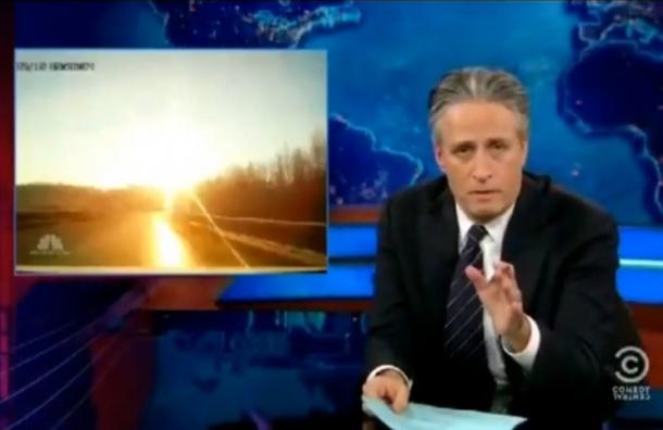 The Daily Show про метеорит и сумасшедших русских - выбор МР-Москва