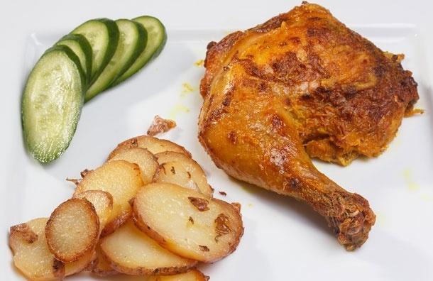 Курица, маринованная в йогурте с имбирем. Рецепт от Сергея Милянчикова