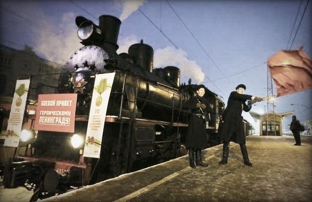 В Петербург приехал старинный паровоз – как 70 лет назад, когда прорвали блокаду
