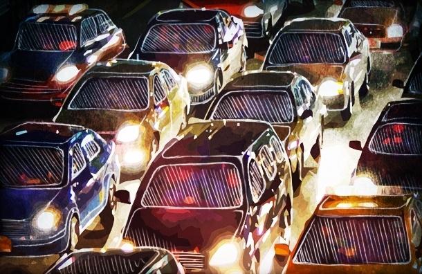 Названы дороги Петербурга, лидирующие по пробкам