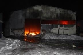 Площадь пожара на складе в Петербурге достигла 400 кв. метров