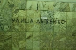 На желтой ветке метро Петербурга встали поезда