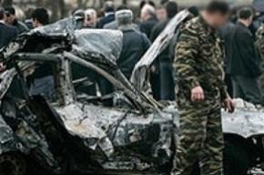 Смертник взорвал бомбу мощностью 120 кг в тротиловом эквиваленте у поста ДПС в Дагестане