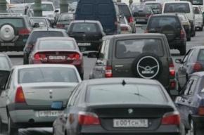 Пробка на КАД растянулась на 8 км из-за серьезного ДТП