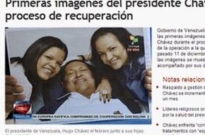 Венесуэльцам показали фотографию улыбающегося Чавеса после операции