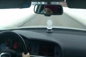 Девочка за рулем Audi заинтересовала полицию Петербурга