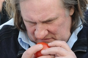 Депардье в Саранске посетил птицефабрику и сыроварню