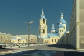 Сенную площадь обнесут забором для воссоздания храма