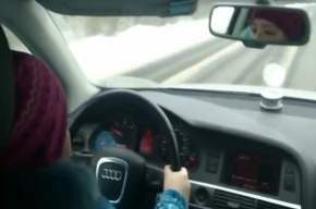 Восьмилетняя девочка за рулем Audi заинтересовала прокуратуру