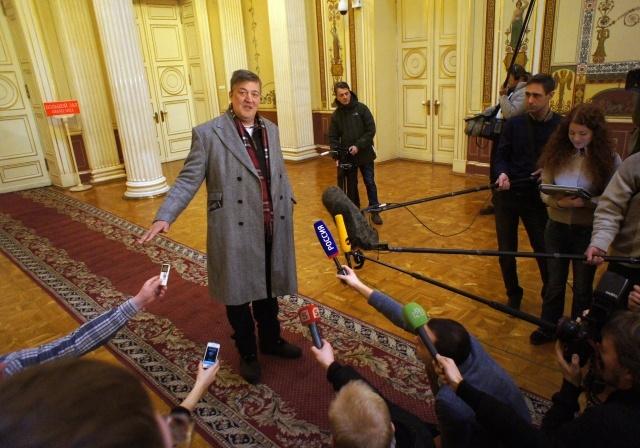Стивен Фрай в Петербурге: Фото