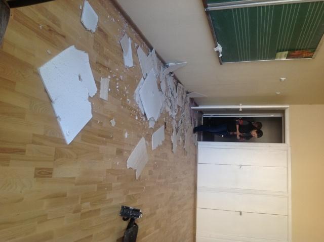 Школа искусств, рухнул потолок: Фото