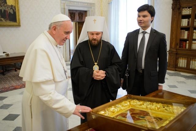 Митрополит Илариона и Папа Римский: Фото