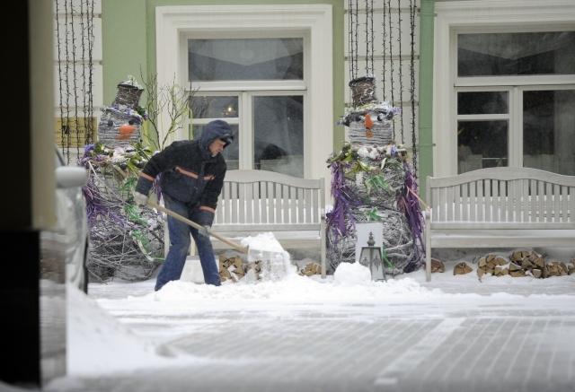 Снегопад в Москве в марте 2013: Фото