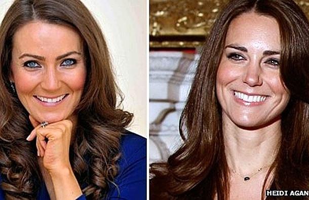 Двойник принцессы Кейт, официантка Хайди,  тоже хочет забеременеть, чтобы не отставать от оригинала