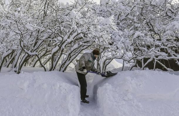 Сильный снегопад в Москве еще впереди