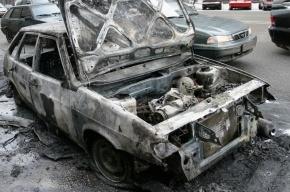В Купчино ВАЗ-2115 загорелся посреди дороги