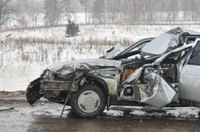 В аварии на КАД водителя «Жигулей» вывернуло наизнанку