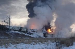 Поезд из Белоруссии в Петербург задерживается из-за пожара на железной дороге