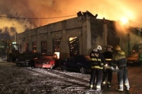 В Петербурге сгорела автомастерская: пожарные спасли кроликов