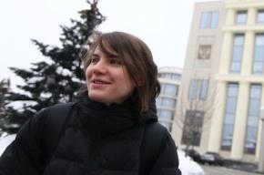 Полицейские опросили Самуцевич из-за спиленного креста