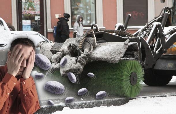 Ноу-хау петербургских коммунальщиков: реактивные камни для уборки снега