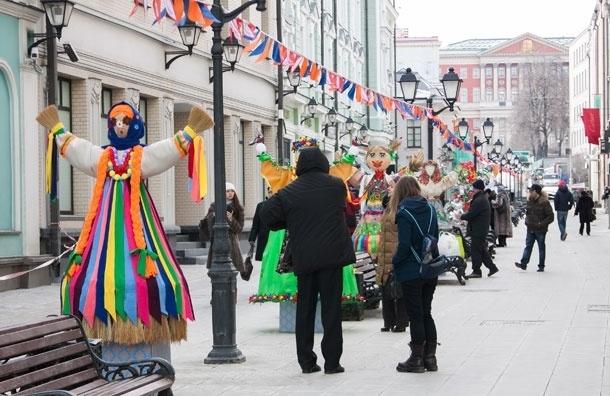 Московская Масленица: выставка кукол, театры и народные гулянья в пешеходной зоне