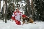 Фоторепортаж: «Путин, собаки, снег, март 2013»