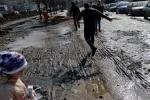 Грязь на пересечении Российского проспекта и улицы Латышских Стрелков: Фоторепортаж