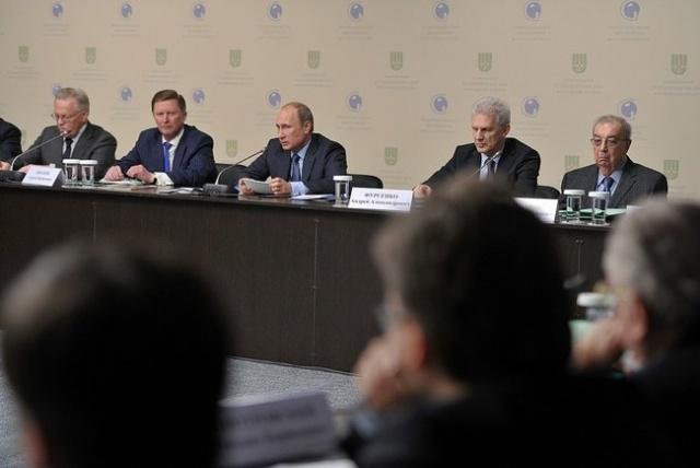 Путин, Гатчина, заседание совета по науке: Фото