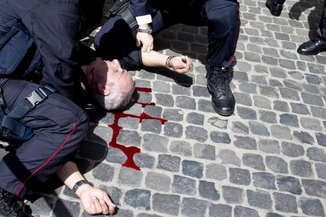 Стрельба в Риме 28 апреля: Фото