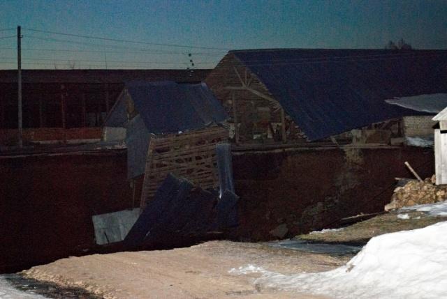Провал в Нижегородской области: Фото