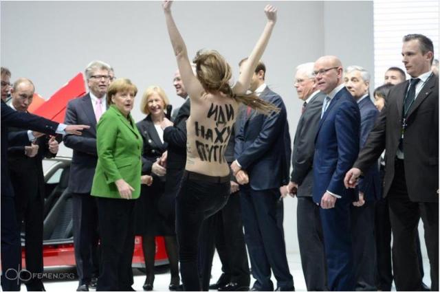 Femen Путин Ганновер: Фото