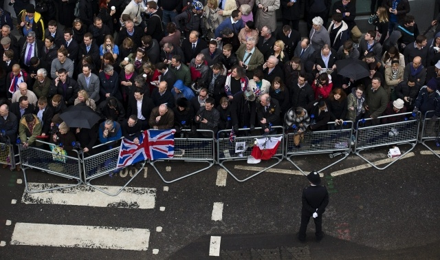 Похороны Тэтчер: Фото