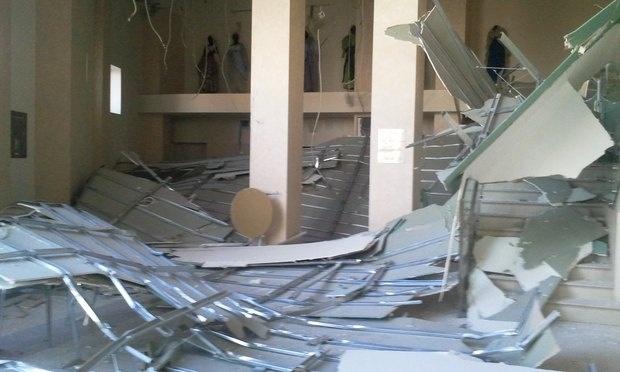 В театре Буфф обрушился потолок: Фото