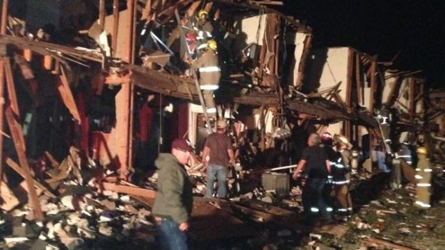 Взрыв в Техасе на заводе удобрений: Фото