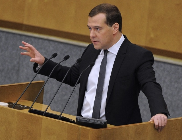 Премьер-министр РФ выступил в Госдуме с отчетом о работе правительства РФ за 2012 год: Фото