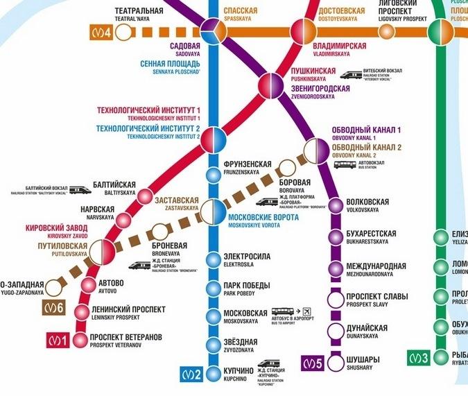 """ГУП  """"Петербургский метрополитен """" начал размещать на станциях новые схемы метро, которые станут актуальными..."""