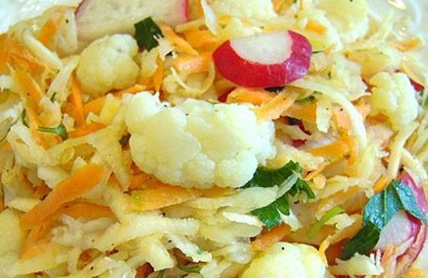 Калорийность цветной капусты салат