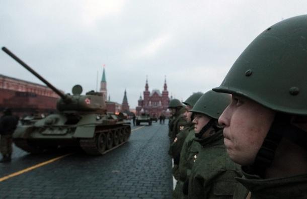 Первая ночная репетиция парада Победы пройдет сегодня в Москве
